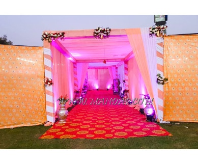 Explore Muskan Hotel Party Lawn in Manesar, Gurgaon - Entrance Welcome Area