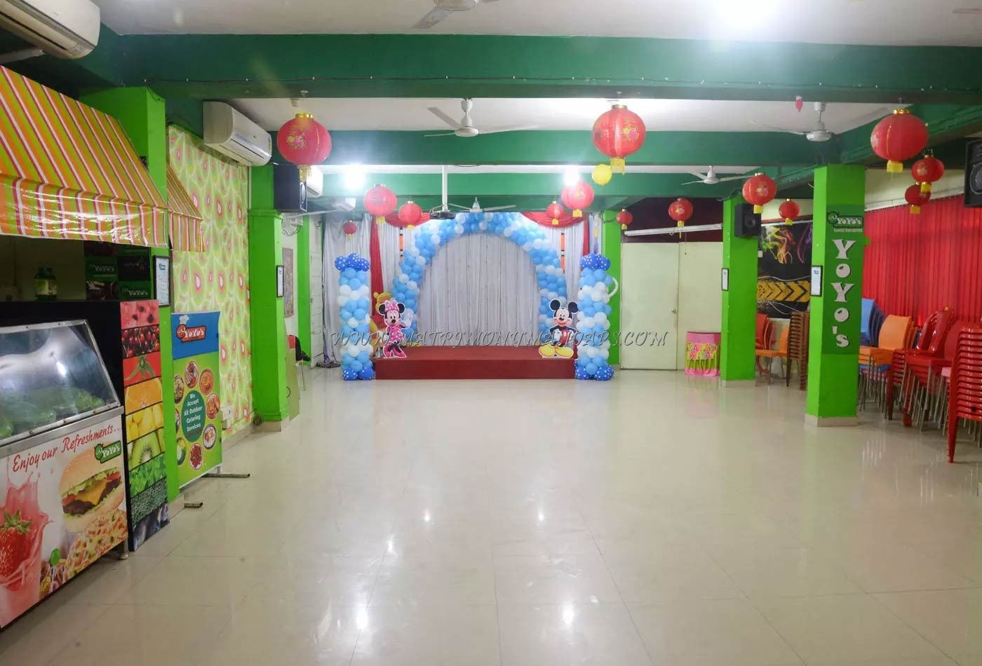Find the availability of the Yoyos Party Hall (A/C) in KK Nagar, Chennai and avail special offers