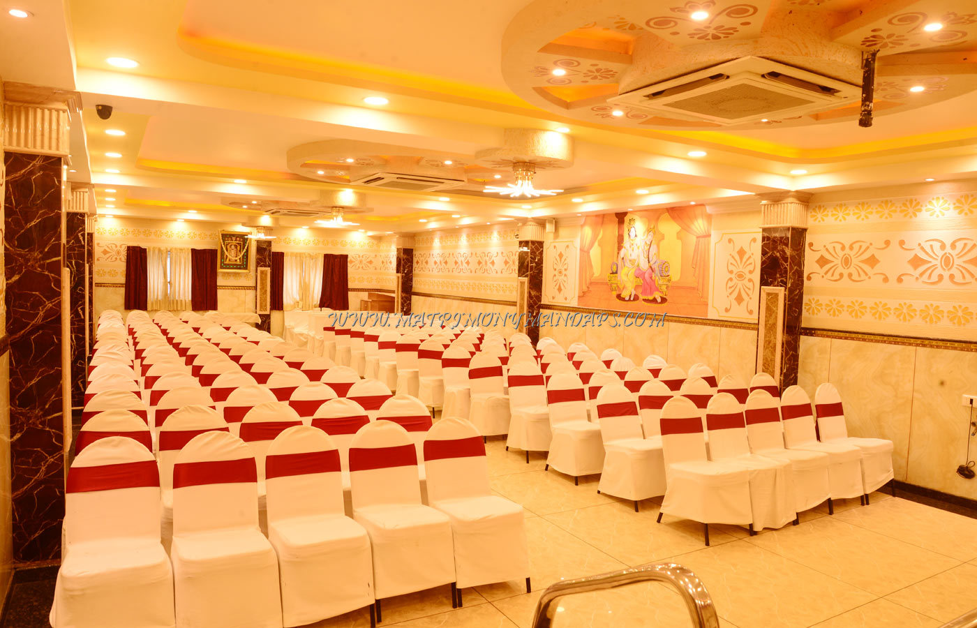Find the availability of the Nisarga Party Hall At Basaveshwaranagar (A/C) in Basaveshwara Nagar, Bangalore and avail special offers