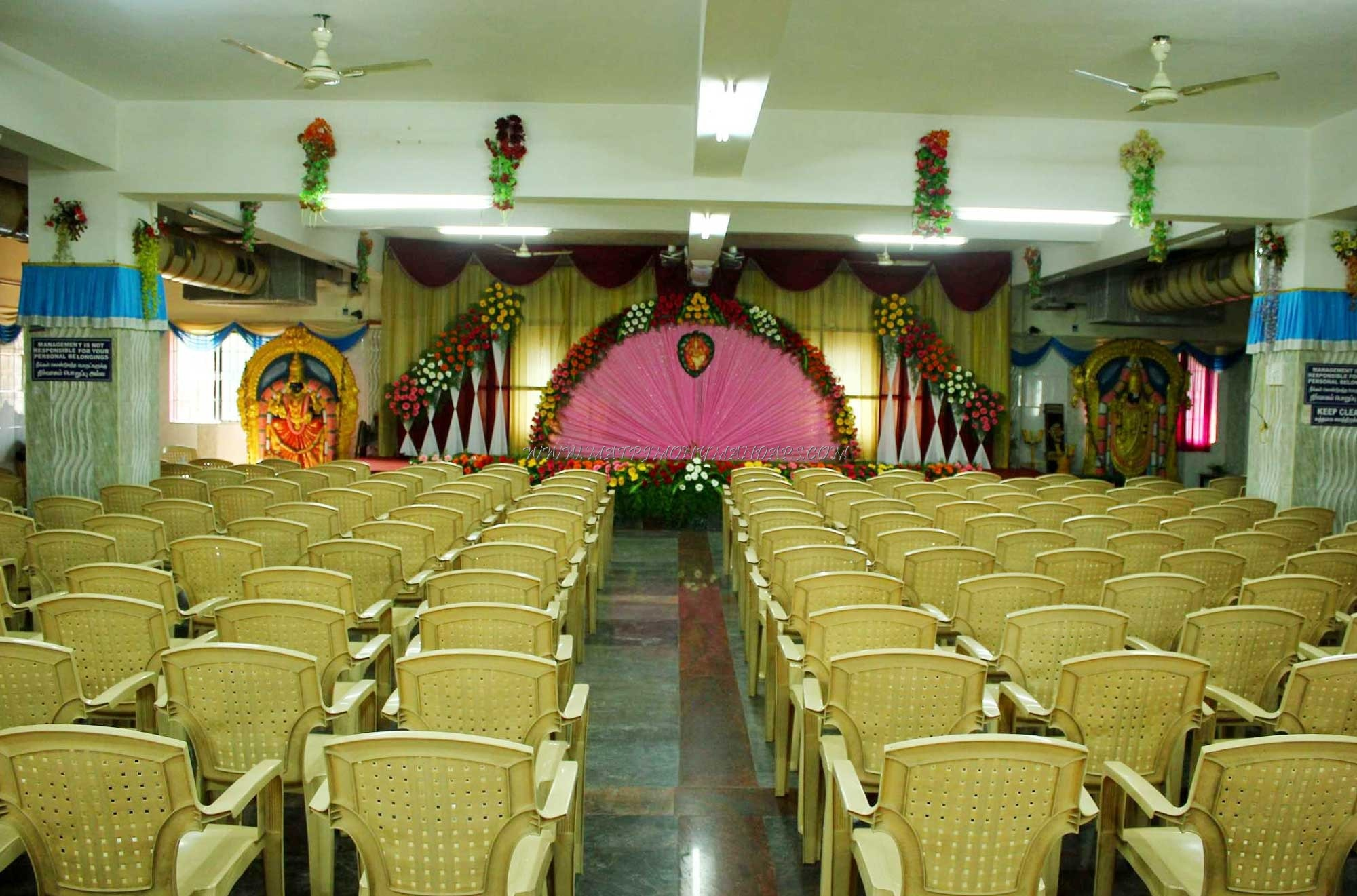 Find the availability of the Sri Vari Seshaa Mahal  (A/C) in Red Hills, Chennai and avail special offers
