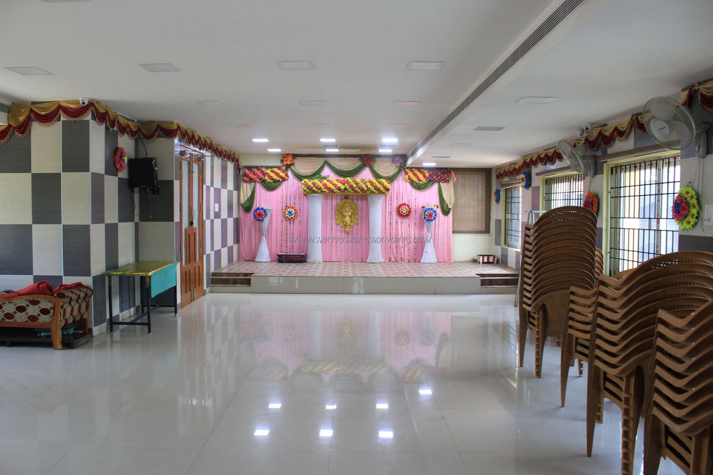 Find the availability of the Sri Sastha Mini Hall (A/C) in Chrompet, Chennai and avail special offers