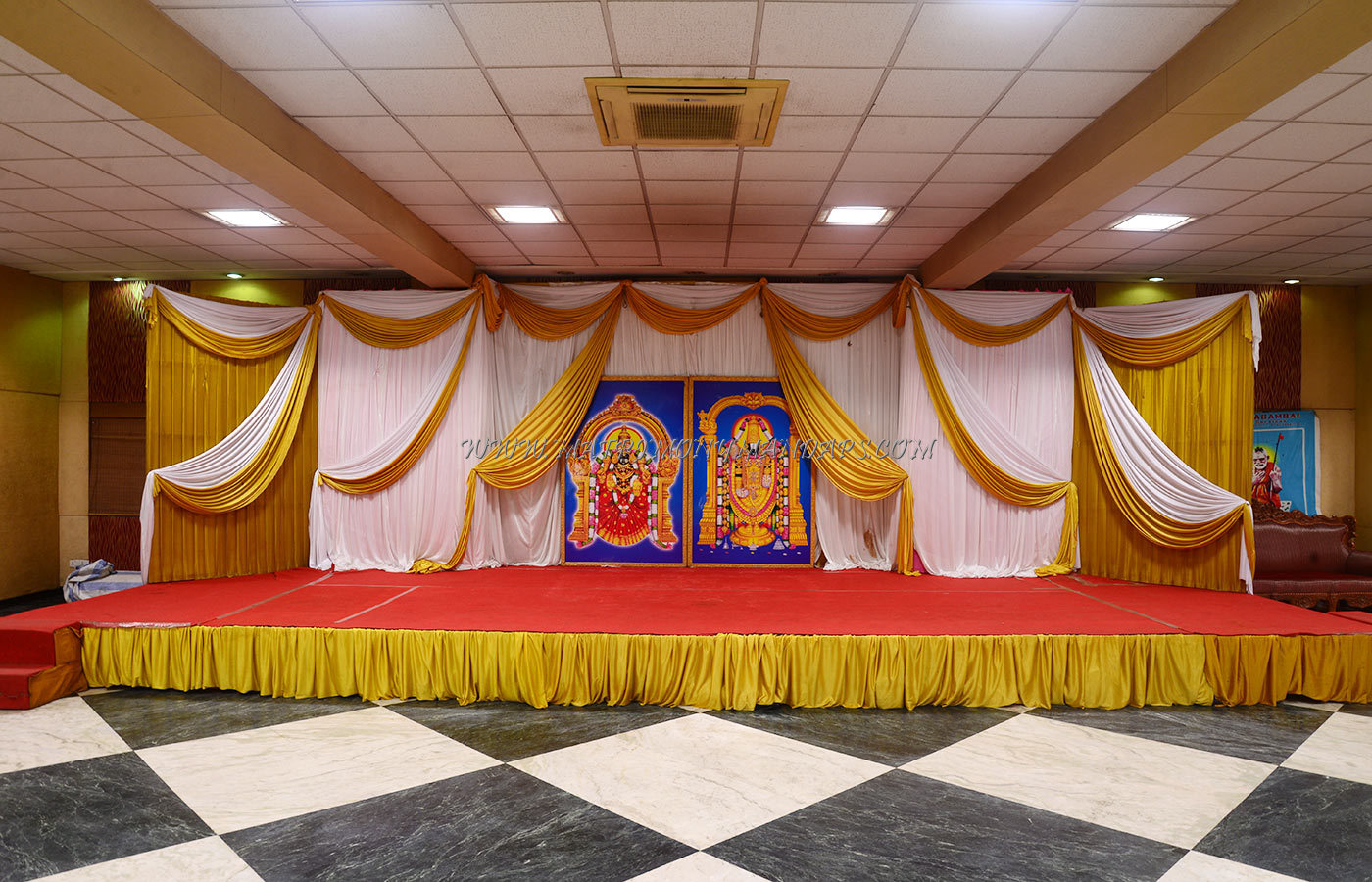Find the availability of the OM Sakthi Karpagambal  Kalyana Mandapam (A/C) in Mandaveli, Chennai and avail special offers