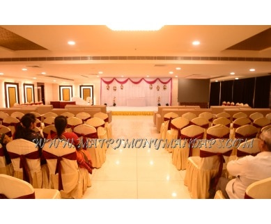 Find the availability of Hotel Shubham palace - Raga-Brundavan Hall (A/C)  in Karmanghat, Hyderabad and avail the special offers