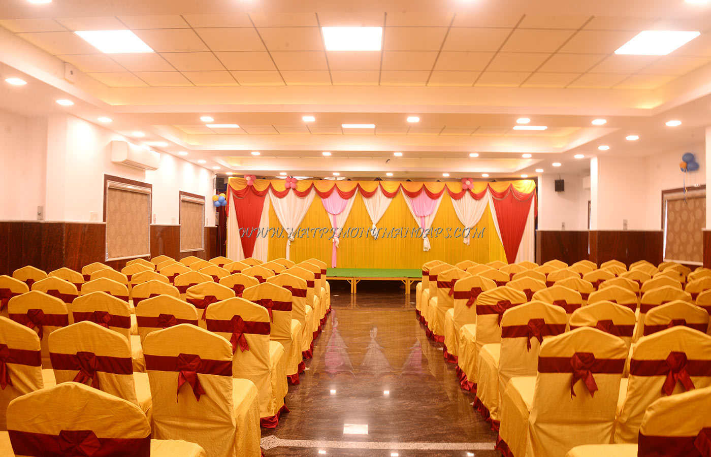 Find the availability of the Thanas Party Hall (A/C) in Aminjikarai, Chennai and avail special offers